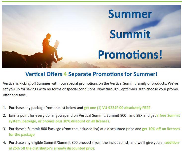Summer Summit Promotion